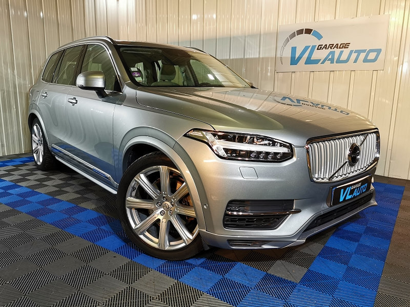 Volvo XC90 T8 TWIN ENGINE 320 + 87CH INSCRIPTION LUXE GEARTRONIC 7 PLACES Hybride GRIS C Occasion à vendre